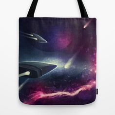 A Race In Space Tote Bag