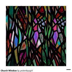 Stained Glass Art Nouveau Parabolas Print