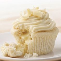White chocolate cupcakes met truffel