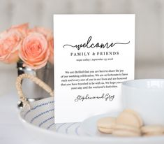 Wedding Welcome Bag Note, Welcome Bag Letter, Printable Wedding Itinerary…