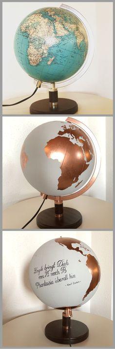 Ich liebe diese Idee  #globus #painting #diy
