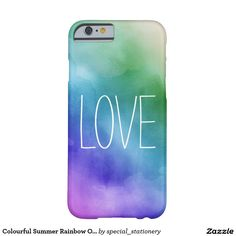 Colourful Summer Rainbow Ombre Barely There iPhone 6 Case