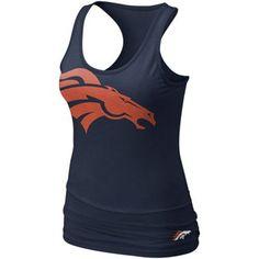 Nike Denver Broncos Women's Big Logo Tri-Blend Tank