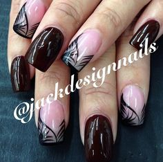 Instagram photo of acrylic nails by jackdesignnails