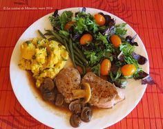 La cuisine de Messidor: Médaillons de veau (ou porc), sauce aux champignons