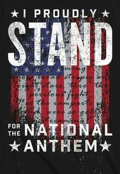 We stand for the National Anthem – proudly! We stand for the National Anthem – proudly! Patriotic Pictures, Patriotic Quotes, Patriotic Flags, American Pride, American History, American Flag, American Anthem, American Spirit, American Girl