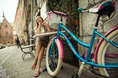 #Krakow, cute #bicycle by #bikebelle & #passionfruit milkshake - for the perfect day out