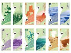 US Banknotes Redesign by Ka Ying Li, via Behance