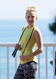 I'm devoted to my pilates workout twice weekly (excpet when traveling)... this is a great workout style... kate-hudson-fabletics-leggings