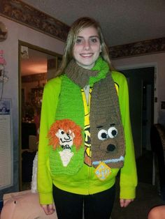 Scooby doo and shaggy scarf