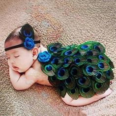 Baby And Blossoms Cute Peacock Crochet