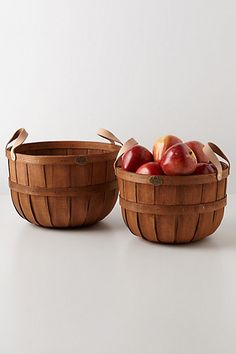 bring some organization to the pantry | pretty baskets with leather handles
