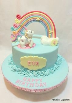 Unicorn cake-£H Einhornkuchen- £ H Unicorn Themed Birthday Party, Birthday Cake Girls, Happy Birthday, Fondant Cakes, Cupcake Cakes, My Little Pony Cake, Gateaux Cake, Girl Cakes, Love Cake