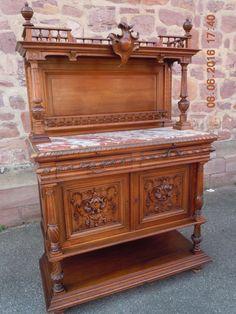 Speisezimmer Henri II Gründerzeit anrichte sideboard von Frankreich Nussbaum in Antiquitäten & Kunst, Mobiliar & Interieur, Mobiliar vor 1900   eBay