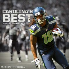 Receiving line for Sidney Rice's birthday wishes forms behind Doug Baldwin