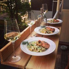 Buiten eten op eigen balkon was nog nooit zo leuk!