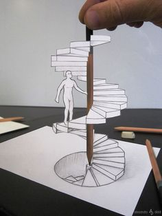 Italian Artist Brings His 3D Drawings To Life By Making Them Leap Off The Paper