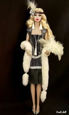 """Even if sold as """"faux"""" fur, it may have come from a real animal, even a dog or cat, which probably died a horrible death. Please say no to ANY fur or fake fur! Barbie Fashion Royalty, Diva Fashion, Covet Fashion, Fashion Dolls, Chanel Fashion, Barbie Costume, Barbie Dress, Barbie Clothes, Beautiful Barbie Dolls"""