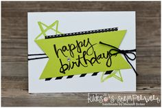 Geburtstagskarte Happy Birthday mit dem Stempelset Watercolor Words von Stampin' Up! mit der In Color 2017 Limette