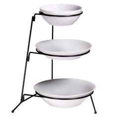 3-Tier Dish with Stand 4Pc Set