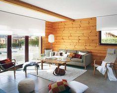 Interior, 13 Great and Beautiful Mansion Interior Design Ideas: Log Cabin Interior Design Ideas
