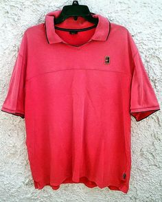 Nike Tennis Polo Shirt Red Vintage 90s Swoosh Tennis Court 01f4410c2