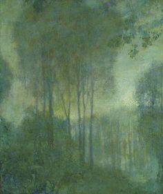 poboh:  Edward Steichen (American, 1879-1973), Landscape in Moonlight. Oil on canvas, 25 x 21 in.