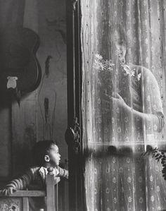 Artwork by Edouard Boubat, Mother and Child, Paris, Made of gelatin silver print People Photography, Vintage Photography, Art Photography, Robert Doisneau, Matt Hardy, Madonna, Fondation Cartier, Social Art, Gelatin Silver Print