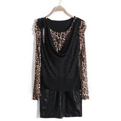 Buy '9mg – Long-Sleeve Leopard Panel Cowlneck Dress' with Free International Shipping at YesStyle.com. Browse and shop for thousands of Asian fashion items from China and more!