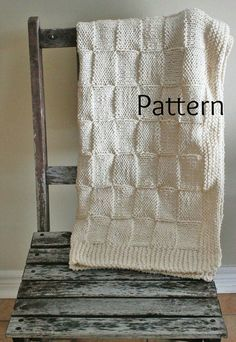 Knitting PATTERN Baby Blanket/The Siberian Baby Blanket /Perfect For Beginners: