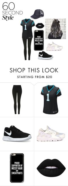 """""""Football"""" by baelifefoever on Polyvore featuring Topshop, NIKE, Casetify and Lime Crime"""