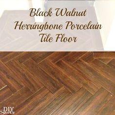 Laundry Room Herringbone Pattern Tile Floor Details - DIY Show Off ™ - DIY Decorating and Home Improvement Blog