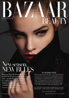 Barbara Palvin by Jonas Bresnan for Harper's Bazaar UK Beauty