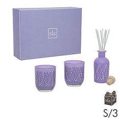 Gift Set Sweet Pea Candes And Diffuser
