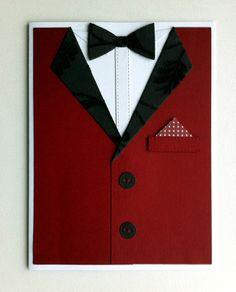 Card for men - MFT suit and tie die - kort til mænd jakke og sort fløjls butterfly & revers - black velvet bowtie - kort til jul eller nytår - Karte für Männer #mftstamps - christmas or new year gentleman suit - JKE