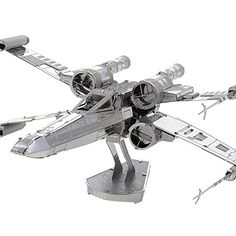 Incom T-65 X-Wing Starfighter of Rebel Alliance Star Wars stainless steel 3D metal model for DIY metal projects from http://metalangelo.com/products/x-wing-fighter