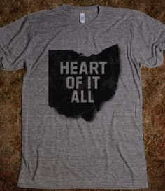 Ohio-Heart of it all - Love Ohio - Skreened T-shirts, Organic Shirts, Hoodies, Kids Tees, Baby One-Pieces and Tote Bags on Wanelo