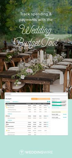 Sign up to seamlessly manage your budget & track payments online! {Photo: Bolton Reuter Photography}