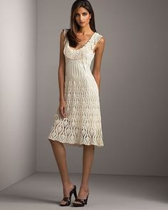 White Crochet Dress…..pineapple pattern