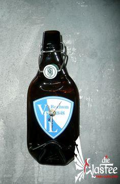 Deko Wanduhr Fiege Pils *VfL Bochum*  Bier Flaschenuhr Geschenkidee Unikat neu