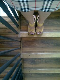 shoes | burberry | parguet floor | stairs