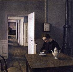 Interior, Strandgade 25 (Vilhelm Hammershøi - 1915)