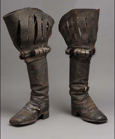 Plague Doctor Costume - Clothing Worn by Plague Doctors - Boots Historical Costume, Historical Clothing, Historical Dress, Conquistador, Vintage Shoes, Vintage Outfits, Medieval Boots, Renaissance Boots, Doctor Costume