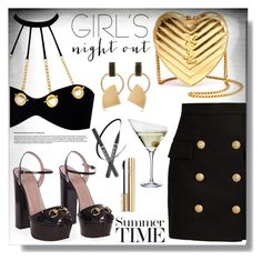 """""""Girls Night Out: Summer Edition"""" by queenvirgo ❤ liked on Polyvore featuring Eva Solo, Agent Provocateur, Balmain, Gucci, Yves Saint Laurent, Dolce&Gabbana, Marni and girlsnightout"""