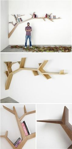 cool tree book shelf. Going to try this out!!