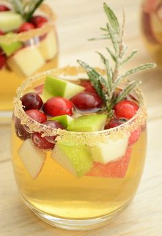 Apple Cider and Cranberry Sangria