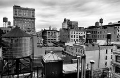 Water towers behind Union Square