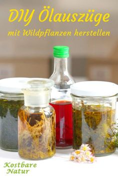 Do healing oil extracts yourself - you have to know that- Heilende Ölauszüge selber machen – das musst du wissen With your favorite medicinal plants and wild herbs, you can easily make an oil extract and use it for massages, ointments or lotions. Protein Shake Recipes, Healing Oils, Natural Cleaners, Milk Soap, Soap Recipes, Medicinal Plants, Face Care, Hot Sauce Bottles, Diy Beauty