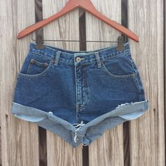 HIGH WAISTED Denim Shorts  High Waist Jean by TomieHarleneVintage, $18.99