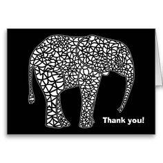 White Elephant - Thank You Card